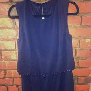 Laundry by Shelli Segal Embellished Layered Dress